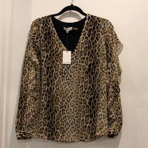 NWT Leopard Blouse